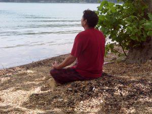 Goey in meditation
